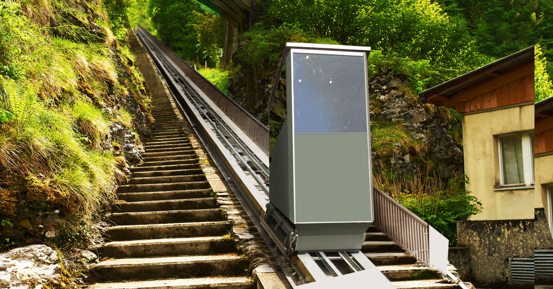 Ascensori inclinati da esterno ed interno gruppo millepiani ascensori - Ascensori da esterno prezzi ...
