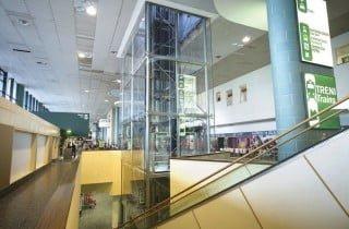 ascensore esterno in vetro