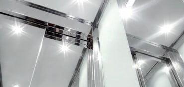 Cabines légères et solides pixlight pour ascenseurs Pixlight