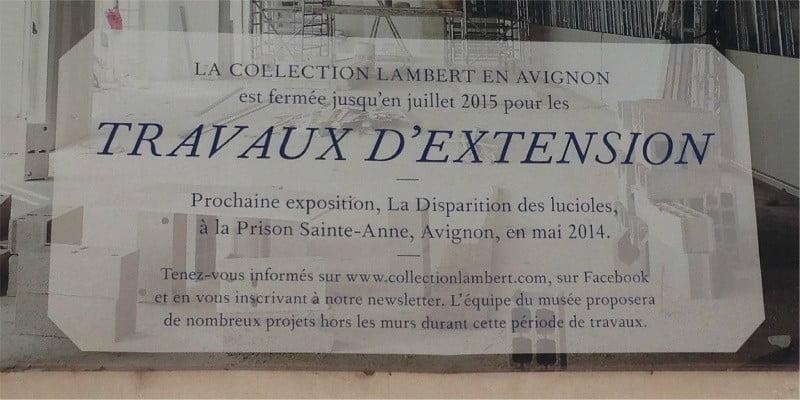 Gruppo Millepiani livre un ascenseur à la Collection Lambert, Avignon, France