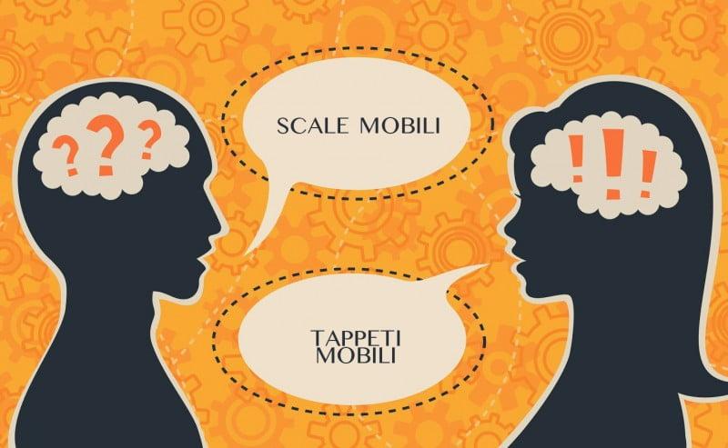 Scale mobili e tappeti mobili:  differenze e curiosità