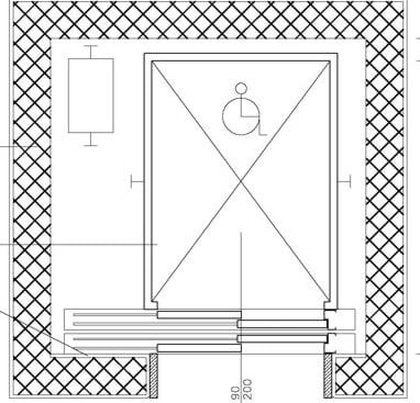 Ascensore esterno per disabili le dimensioni minime for Dimensioni ascensore