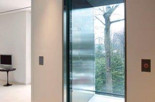 ascensore per interni in vetro