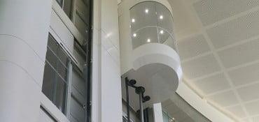Un des plus importants projets de Millepiani Elevators en France, l'Hôtel Val d'Orb