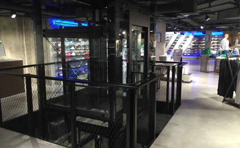 Millepiani Elevators rinnova la tecnologia verticale dell' ADIDAS BRAND CENTER PARIS